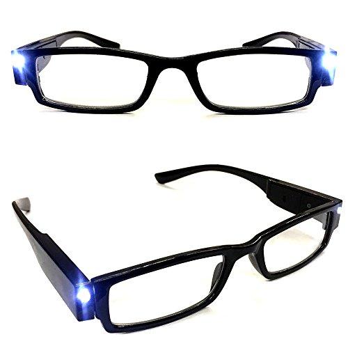 Lesebrille mit LED-Leselicht Lesehilfe Sehhilfe Leselampe Brille 1,0-3,5 dpt (+1,5)