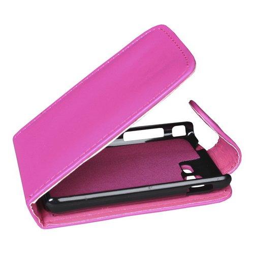 Mobilfunk Krause - Flip Hülle Etui Handytasche Tasche Hülle für Samsung Rex 80 (Pink)