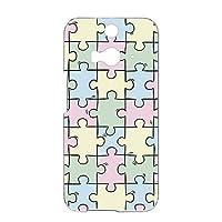 FFANY HTC J butterfly (HTL23) 用 ハードケース スマホケース パズル柄・パステル おもしろ ゲーム パロディ エイチティーシー ジェー バタフライ au 楽天モバイル ワイモバイル スマホカバー 携帯ケース 携帯カバー puzzle_aao_h190733