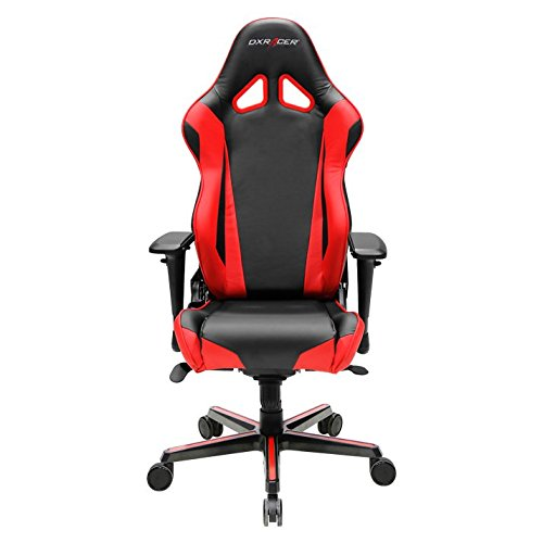 DXRacer OH/RV001/NR Racing Series Black and Red Gaming Chair - Includes 2 Free Cushions