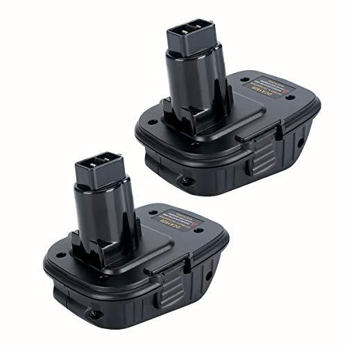 2Pack DCA1820 Battery Adapter for Dewalt 18V to 20V Adapter Converter for Dewalt 18V Tools Convert for Dewalt 20V Lithium Ion Battery DCB205 for Dewalt 18V NiCad & NiMh Battery Adapter