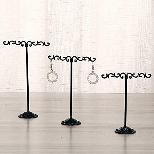 Supporto Per Orecchini a Forma Di T, Supporto Per Orecchini, Stand Gioielli Stand, Stand Gioielli in Metallo Nero Per Vetrina