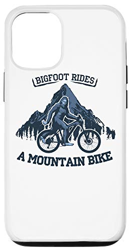 iPhone 12/12 Pro Funny Bigfoot Rides a Mountain Bike Sasquatch MTB Case