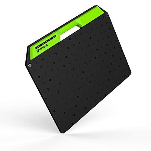 Upgrade Topsolar 60 W - Kit de carga panel solar portátil para generadores energía portátiles, teléfonos móviles, lámpara cámara, 12 V, batería autoarranque (dos puertos USB y salida 19/14,4 V CC)