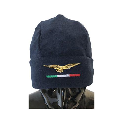 Sombrero Redondo Azul de Forro Polar antipilling Aquila Civile Tricolor
