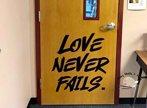 Liebe scheitert nie Wand Aufkleber Schule Klassenzimmer Aufkleber Ratgeber Büro Aufkleber Sonntag Schule Kirche Aufkleber Jugendgruppe Raum Dekor Schule Dekor