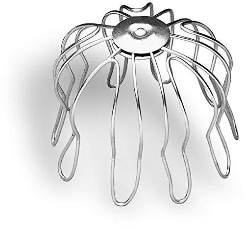 Zambelli Rinnensieb verzinkt 50-60 mm - Laubfänger zum Einstecken in den Rinnenabfluss | Formsicher & exakte Passgenauigkeit