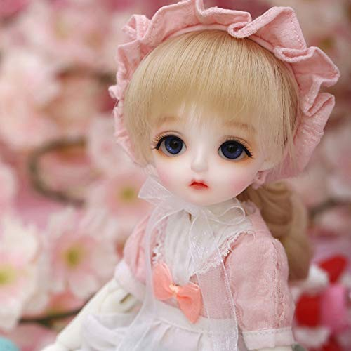 ZHDQ Moda BJD Doll 1/6 Dulce Niña SD Muñecas 10,2in Activity Articulada Muñeca, con Juego Completo Ropa Zapatos Peluca Maquillaje, Mejor Regalo para Día de San Valentín- MIU