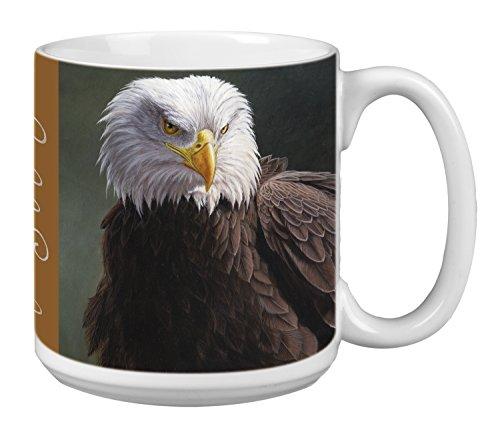 Tree-Free Greetings Extra Large 20-Ounce Ceramic Coffee Mug, Bald Eagle Themed Wildlife Art