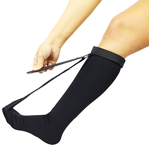 Vive Plantar Fasciitis Stretch Sock - Non Slip Calf Night Relief for Heel, High Arch Pain - Achilles Tendonitis Therapy Foot Support Sleeve Stretcher - Compression Sleeve - Men, Women (L / XL)
