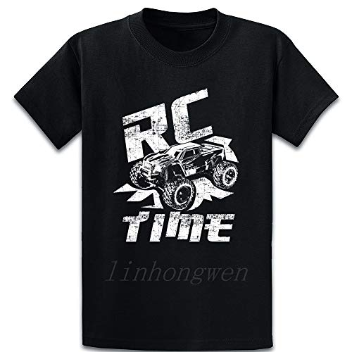 Rc Time Truck Radio Controller Car T Shirt Gift Spring Autumn Humor Family S-XXXXXL Cotton Printing Pattern Shirt Black S