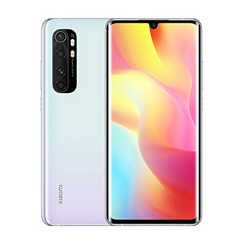 "Xiaomi Mi Note 10 Lite 6 GB 64 GB Smartphone Qualcomm Snapdragon 730G 64MP AI Quad Camera 6.47""Pantalla Teléfono móvil NFC (Blanco)"