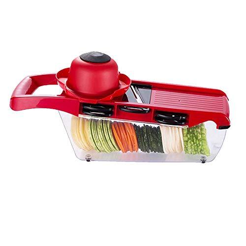 Cortador de verduras, mandolinas de cocina multifunción, cortador de alimentos vegetales, cortador de frutas, 6 cuchillas, pelador, rallador de vegetales para patatas, patatas fritas, cebolla vegetal