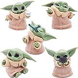 Baby Yoda Figuras-Miotlsy 5pcs Mini Juego de Figuras Niños Mini Baby Shower Fiesta de cumpleaños Dec...