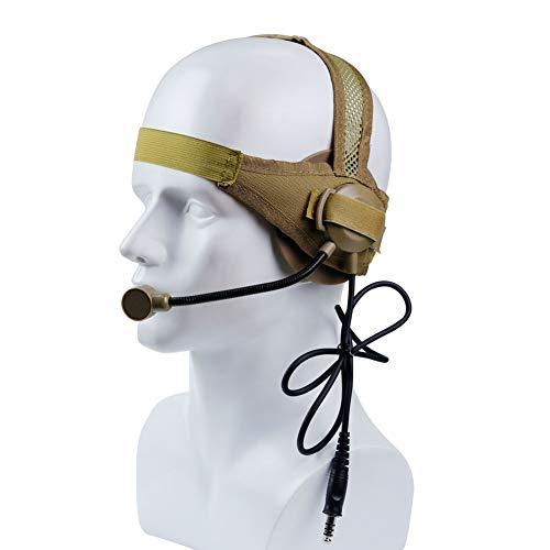 HAOYK Tactical Headset Ruisonderdrukkende Shooting Oordopjes Jagen Walkie Talkie Helm koptelefoon met Microfoon