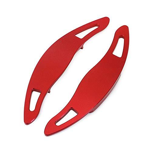 HJPOQZ Palanca de Cambios del Volante del Coche Palancas de Cambio Cubiertas de extensión Aleación de Aluminio Rojo Estilo de Auto automático, para Toyota Camry 2018 2019 Complemento