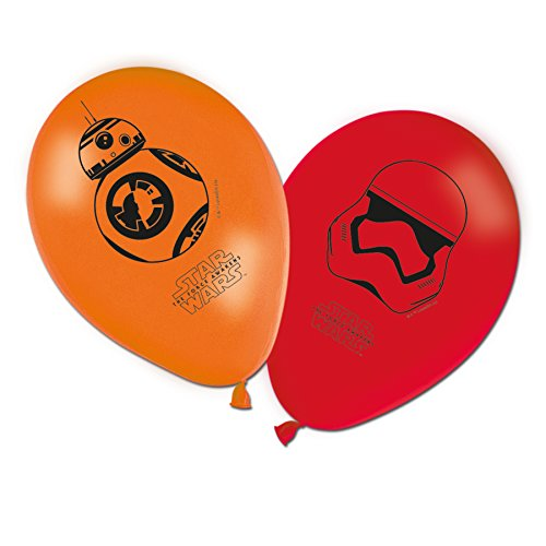 Generique - 8 Bedruckte Luftballons Star Wars VII