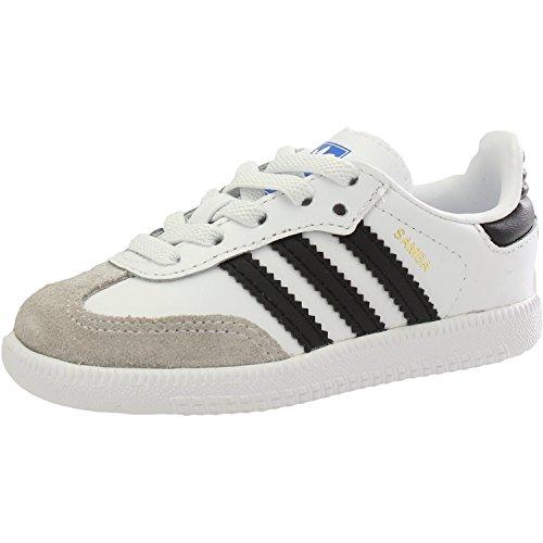Adidas Samba OG EL I, Zapatillas de Estar por casa Bebé Unisex, Blanco (Ftwbla/Negbás/Gracla 000), 19 EU