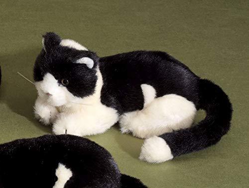 Förster Stofftiere 3468 Katze liegend schwarz/weiß Mini 16 cm