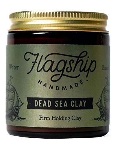 Flagship Handmade Dead Sea Clay - Firm Hold - Matte Finish, 4 Ounce