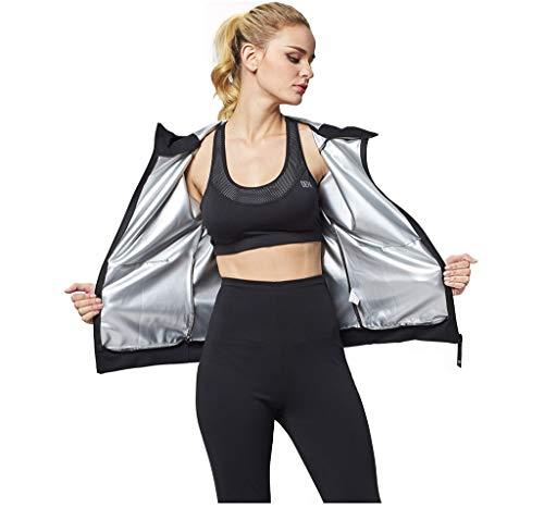Zweetpak Explosieve Dames pak Jas Shirt Lange mouwen Sport Running Suit Wicking Gewichtsverlies Service Klittenband Driedelig Zwart
