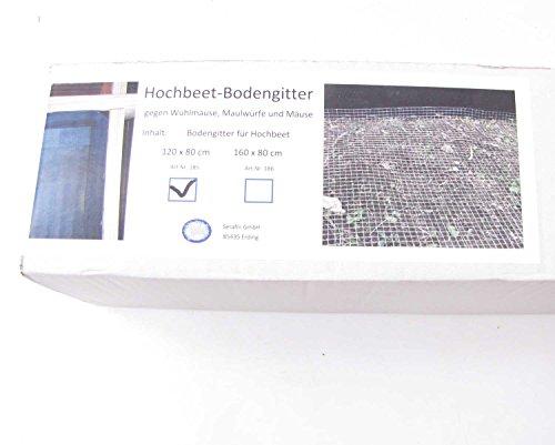 Bodengitter für Hochbeet 80 x 120 cm Metall Gitter Hochbeetzubehör