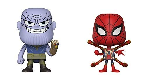 Funko- Vnyl.: Marvel: Avengers: Infinity War-Thanos and Iron Spider Viynl 1 Figura, Multicolor, 4-Inch (889698309325)