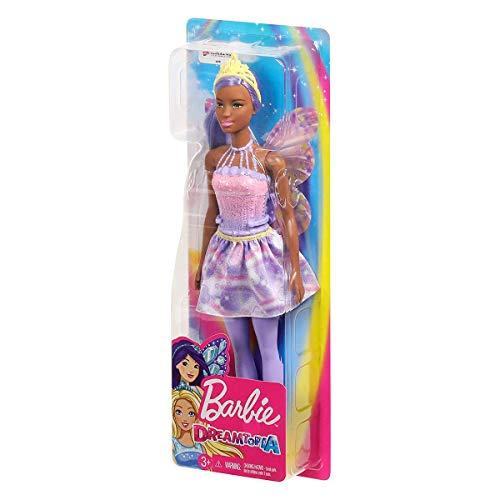 Barbie Dreamtopia- Muñeca Hada lila con accesorios (Mattel FXT02)