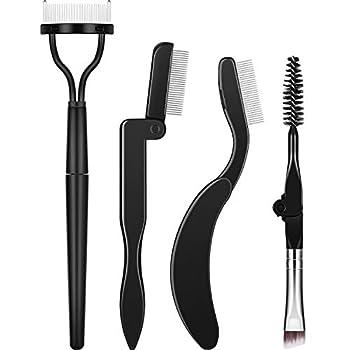Folding Eyebrow Comb Eyelash Separator Eyebrow Eyelash Grooming Brush for Making Up Supplies  Style A 4 Pieces