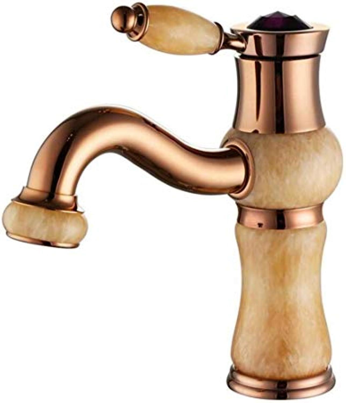 Retro Heier Und Kalter Wasserhahn Mixer Luxusüberzugwasserhhne Waschtischarmatur Wasserhahn Alte Weisen Natürliche Jade Warm Und Kalt Alle Kupferhahn