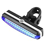 Szblk 自転車ライトフロントとバック防水LED USB充電式マウンテンバイクライト、サイクルライトLED充電式フロントライトヘッドライトとテールバックライト (Color : 青)