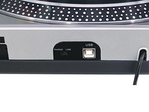 Omnitronic DD-2550 USB HiFi Platine Vinyle Turntable