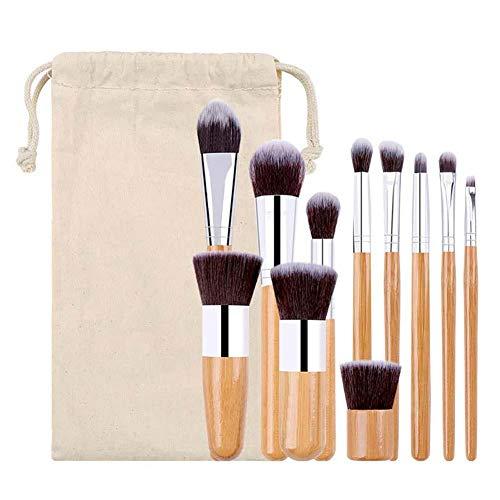 TREESTAR 11 Pièces Faciale Pinceau de beauté Costume Pinceau de Maquillage Pinceau de Beauté Fond de Teint Profession Multifonction Outils de Maquillage
