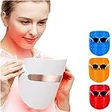 LED masque de luminothérapie activent le traitement de la peau par des taches d'acné au collagène blanchissant la peau 3 lumières de couleur de rouge/bleu/orange
