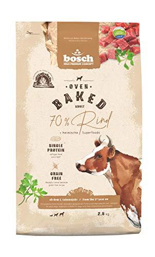 bosch HPC Oven Baked Rind | Im Ofen gebackenes Hundefutter für ausgewachsene Hunde aller Rassen | Single Animal Protein | Grain-Free | 1 x 2.5 kg