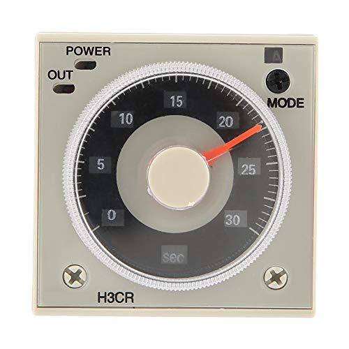 Relé del temporizador de retardo, H3CR-A Relé del temporizador de retardo 0.5S-300H Perilla Tiempo de control del relé 11-Pin 100-240VAC 100-125VDC