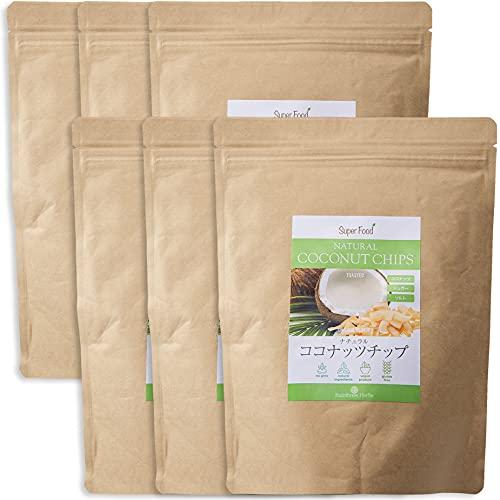 レインフォレストハーブ ナチュラル ココナッツチップ 330g 6袋 ノンフライ ココナッツチップス トーストタイプ 油不使用