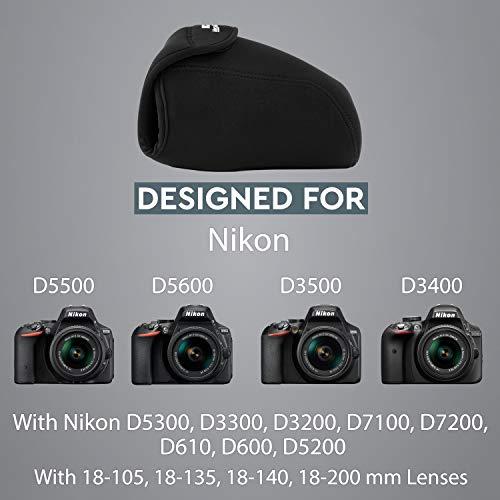 MegaGear MG091 Nikon D3500, D5600, D3400, D5500, D7200, D3300, D5300, D610, D7100, D600, D3200 Ultra Light Neoprene Camera Case