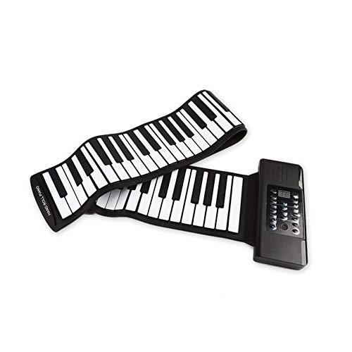 GUOQING Keys Roll Up Piano Piano Principiener Roll Up Piano Elettronico Tastiera Digitale Pianoforte Portatile (Color : 61 Keys Black)