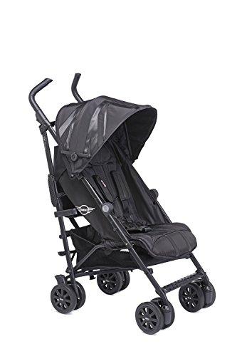 MINI by Easywalker buggy+ LXRY Black (besonders geeignet für große eltern aufgrund der verstellbaren griffe)