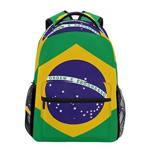 Eslifey Flagge von Brasilien Rucksack Studenten Schultertasche Reisetasche College Schule Rucksäcke