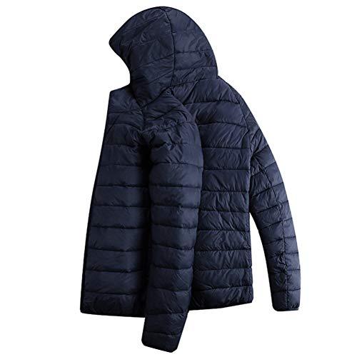 WYKDA Piumino Jacke Männer Mode Männlichen Parka Jacke Herren mit Kapuze Jacken und Mäntel Mann Licht Unten Parkas 5 Farbe