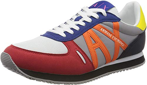 Armani Exchange Sneaker, Zapatillas para Hombre, Multicolor (Multicolor K492), 42 EU
