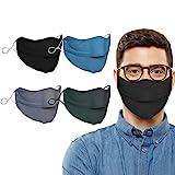 Akeelii Unisex Anti-Fogging Mundschutz für Erwachsene Brillenträger mit Verstellbarer Schnalle (Mehrfarbig)