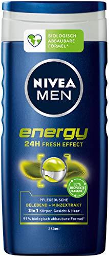 NIVEA MEN Energy Pflegedusche (250 ml), vitalisierendes und pflegendes Duschgel mit Minz-Extrakt, erfrischende Dusche für aktive Männer