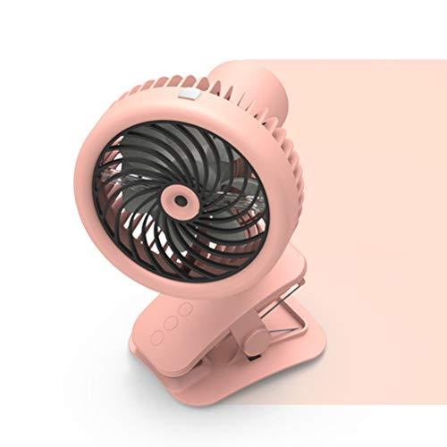 Sysow - Ventilador USB pequeño, giratorio 360°, con clip, mini ventilador con pinza, ventilador USB para dormitorio, oficina, cochecito, camping