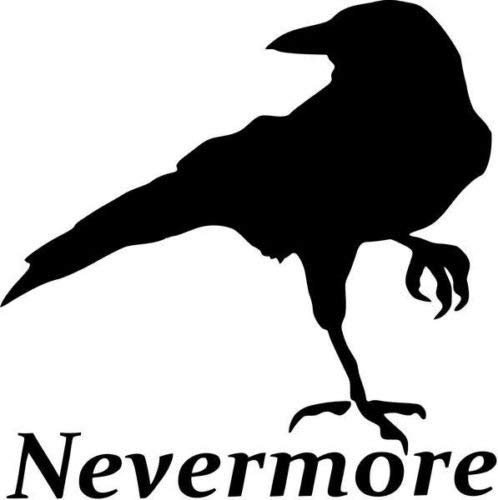 Nevermore Raven Bird Edgard Allan Poe Car Truck Windows Decor Decal Sticker - Sterf gesneden vinyl sticker voor ramen, auto's, vrachtwagens, gereedschapskisten, laptops, MacBook - vrijwel elk hard, glad oppervlak