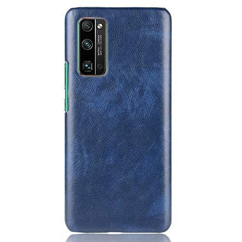 BEIJING  PROTECTIVECOVER+ / for Huawei Honor 30 Pro a Prueba de Golpes Litchi Texture PC + Caso PU, Fashion Phone Funda para Protector (Color : Azul)