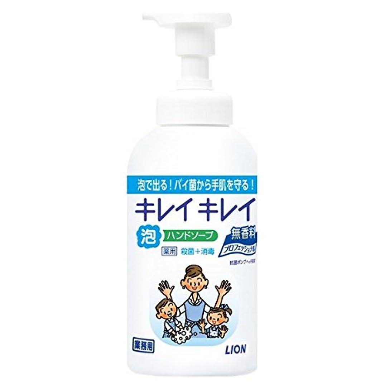 気味の悪い従事するランチライオン キレイキレイ薬用泡ハンドソープ 無香料 550ml×12本入