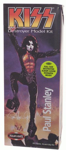 KISS - 1998 - Playing Mantis - Polar Lights - KISS Destroyer Model Kit - Paul Stanley Starchild - All Plastic Assembly Kit - RARE - Full Size Destroyer Album Cover Diorama Inside - New - Limited Edition - Collectible